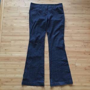 Theory Women's Dark Wash Flare Jean Size 12